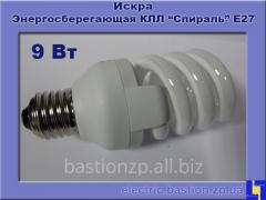 Лампа люминесцентная компактная «Спираль» КЛЛ 9Вт/840-S/Т3-Е27