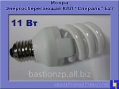 Лампа люминесцентная компактная «Спираль» КЛЛ 11Вт/840-S/Т3-Е27