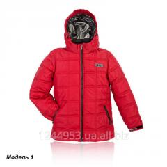 Стильная куртка для мальчика Кубик - красная