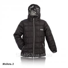 Подростковая куртка Кубик - черная