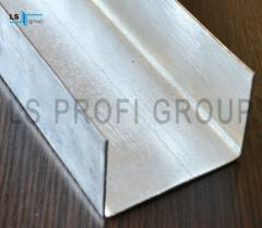 Galvanized steel U profile