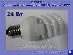 Лампа  КЛЛ люминесцентная компактная «Спираль» 24 Вт/840-S/Т3-Е27 Искра