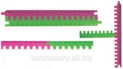 Ruler puzzle plastic
