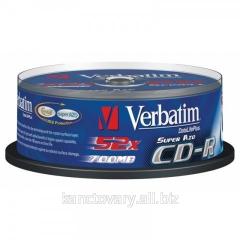 Диск CD-R Verbatim, 700Mb, 52х, 80min, Cake(50),