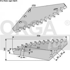 Нож кормосмесителя BwL 91065