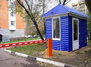 Блок пост охраны, будки охраны
