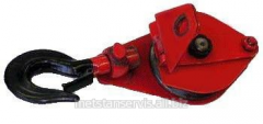 Load pulley with a folding cheek of 2 t.