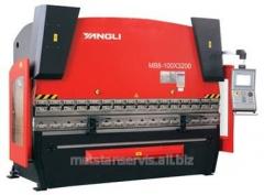 Hydraulic bending press of MB8-250/4200