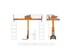 The crane piler bridge electric OP - 1,0 tn