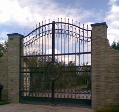 The forged fences and gate.
