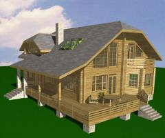 Деревянный дом из профилированного соснового бруса