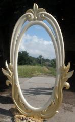 Зеркало резное из натурального дерева