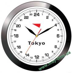 Wall clock with the Yazaki 11100111 log