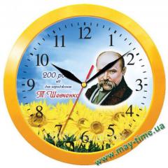 Wall clock with a logo Taras Shevchenko 11150154