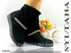Женские ботинки с мехом код 12434