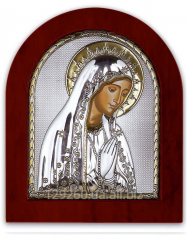 Icon of Mary Greece Axion Silver Plated 200 x 250