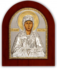 Icon Matron gilded Silver 85 x 100 mm Axion on