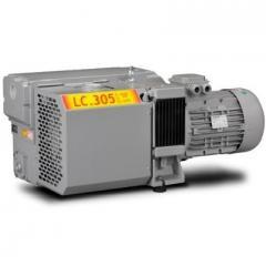 Vacuum pumps lamellar and rotor with circulating