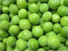 Peas are frozen