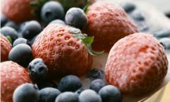 The fruit frozen