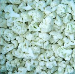 The cauliflower frozen