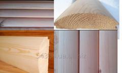 Блок-хаус из сосны и ясеня для  внутренней и