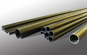 Pipes and profiles from carbon fabrics, a kevlar