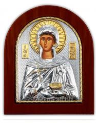 Paraskev Serebryanaya's icon with Pozoloto of