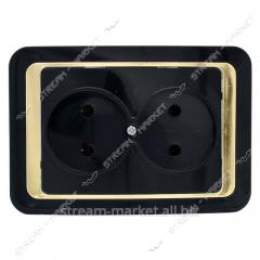 Wega the Socket double with a gold insert. Black