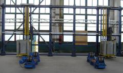 The stand with rolikoopor for assembly welding of