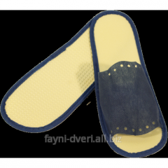 Disposable slippers for saunas
