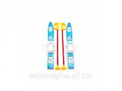 Лыжи с палками Marmat детские пласт., длина-70см