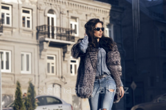 Fur coat from the silver fox and broadtail