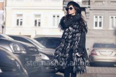 Coat tweed with lama