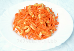 Squids with carrots in Korean