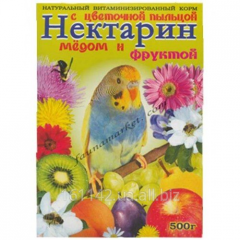 Budgerigars food with honey and flower pollen of