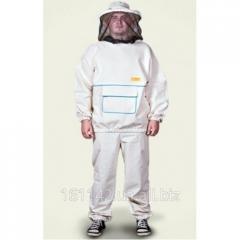 Костюм пчеловода с лицевой сеткой пришитый к куртке разные размеры