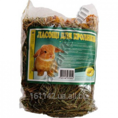 Hay with corn for rabbits of 150 g