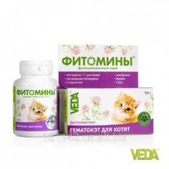 Фитомины Гематокет для котят 100 таб Veda
