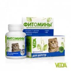 Фитомины для шерсти кошек 100 таб Veda
