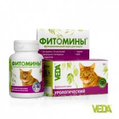 Фитомины с урологическим фитокомплексом для кошек 100 таб Veda