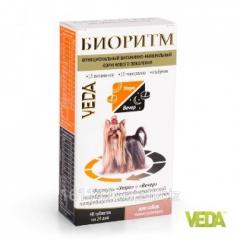 Витамины Биоритм для собак мелких пород 48 таб Veda