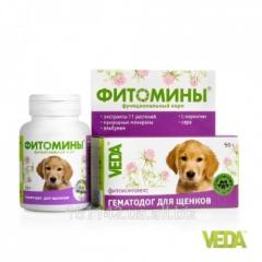 Фитомины Гематодог для щенков 100 таб Veda