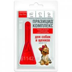 Празицид комплекс для собак весом до 5 кг Api-San