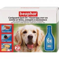Капли СПОТ ОН для собак крупных пород 6 шт Beaphar Caniguard