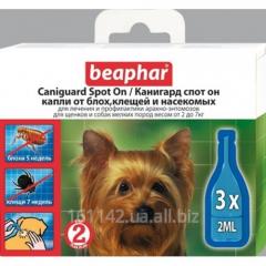 Капли СПОТ ОН для собак мелких пород 3 шт Beaphar Caniguard