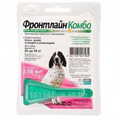 Капли Frontline КОМБО для собак 20-40 кг