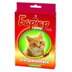 Ошейник для кошек красно-желтый 35 см Барьер