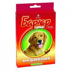 Ошейник для собак красно-желтый 65 см Барьер