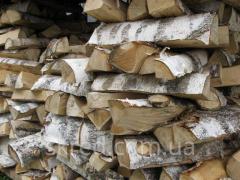 Дрова колотые из березы, дрова из дуба